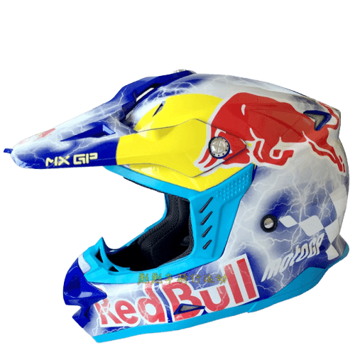 ΚΡΑΝΟΣ MOTOCROSS REDBULL MX GP ΜΠΛΕ THUNDER