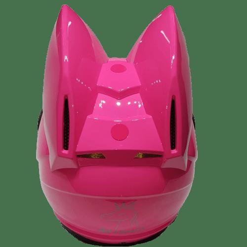 nitrinos neko cat pink helmet back