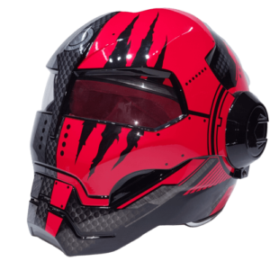 soman iron man helmet show closed red