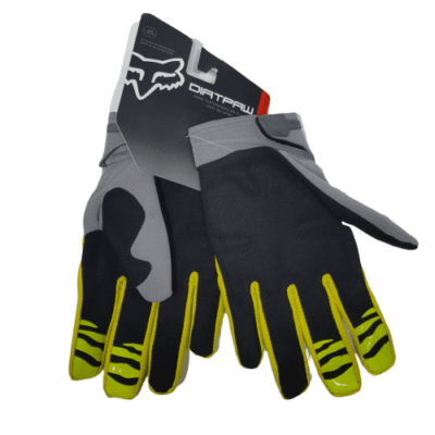 gloves fox gloss grey back