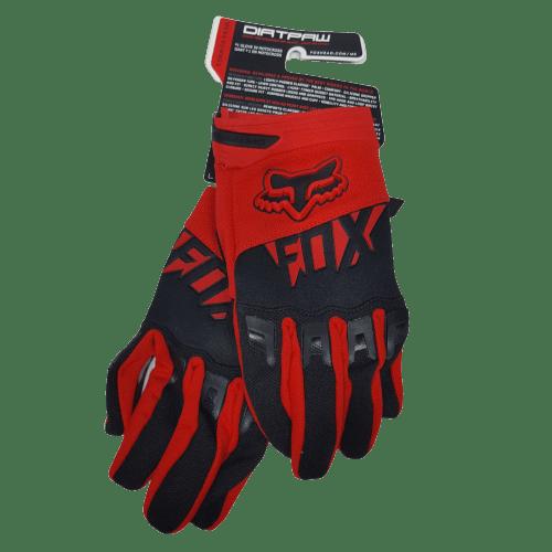 gloves fox red black front