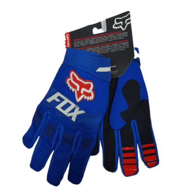 gloves fox red blue front