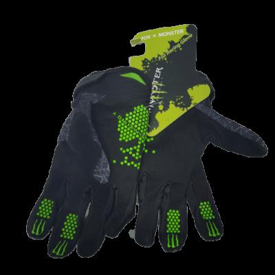 gloves monster black back