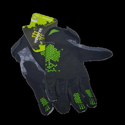 gloves monster white back