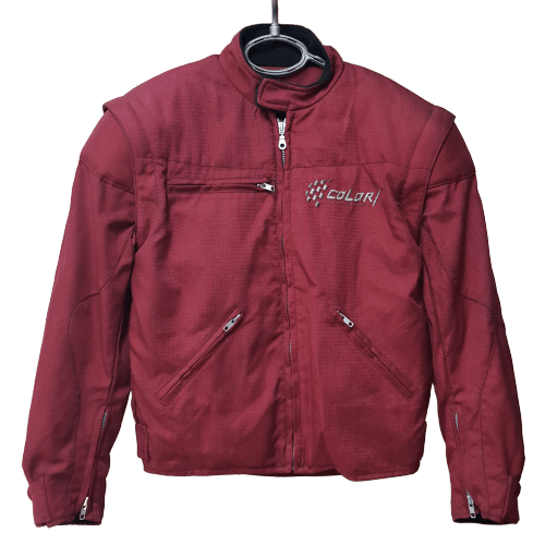 jacket colori style jacket red front