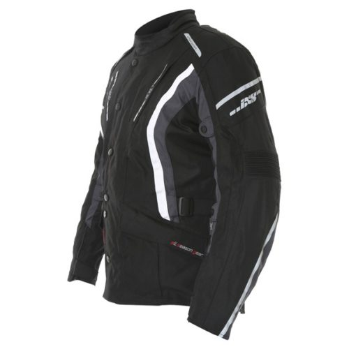 jacket ixs taranis black backwhite side