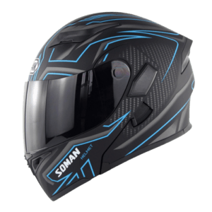 SOMAN mat blue HELMET 955 left