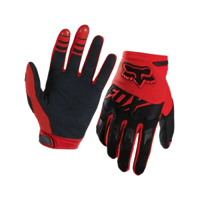 fox dirtpaw gloves red